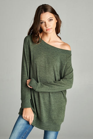 womens olive tunic