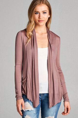 womens mauve cardigan