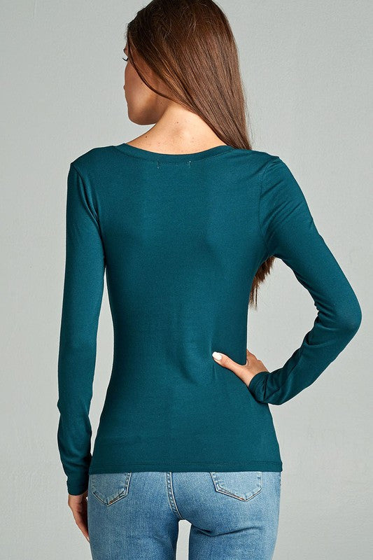 womens teal long sleeve shirt