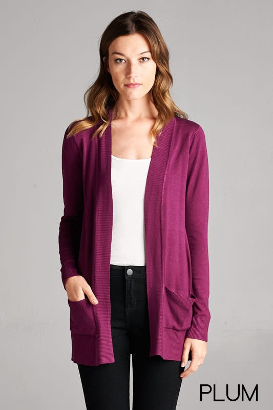 womens plum cardigan