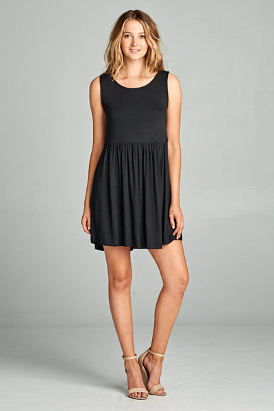 womens little black dress lace inset