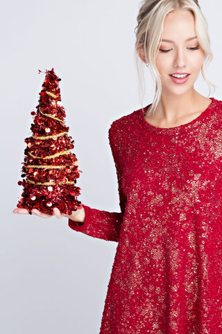 womens red holiday party dress