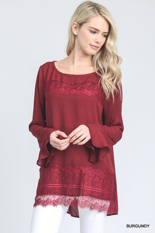 womens burgundy holiday shirt