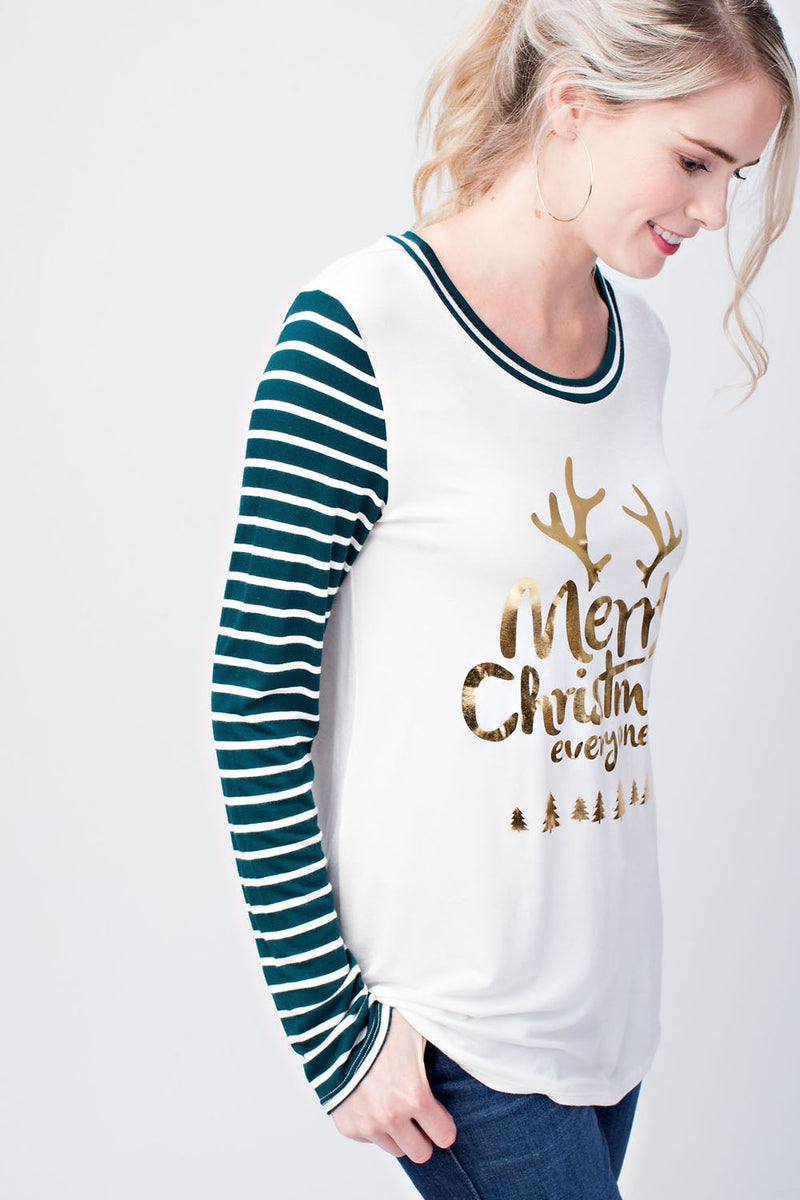 womens holiday green shirt