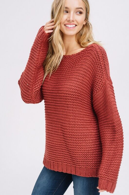 womens brick pullover sweater boutique clothing