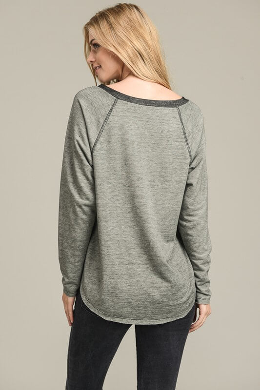 olive green long sleeve sweatshirt online boutique