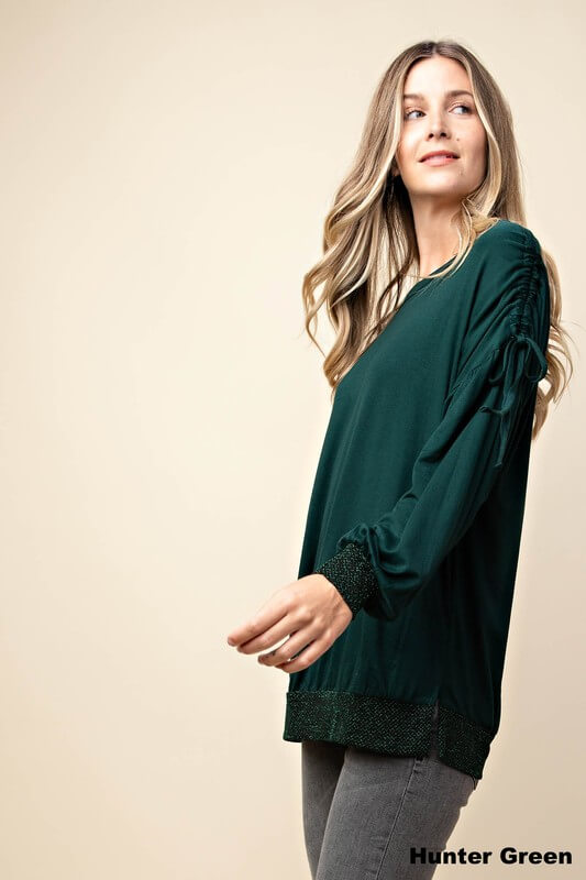 womens clothing boutique green long sleeve sweater