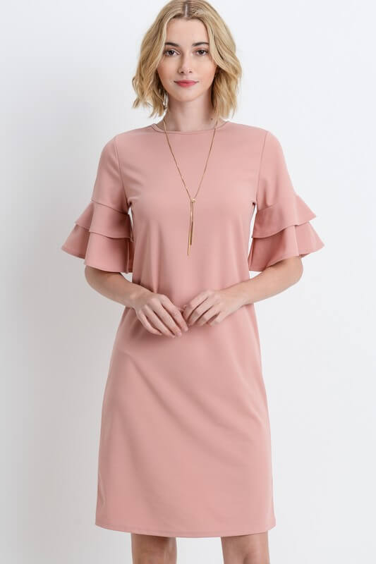 womens dusty pink career dress