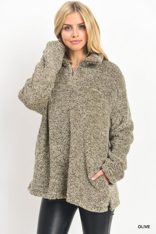 olive green fuzzy pullover womens sweater online boutique