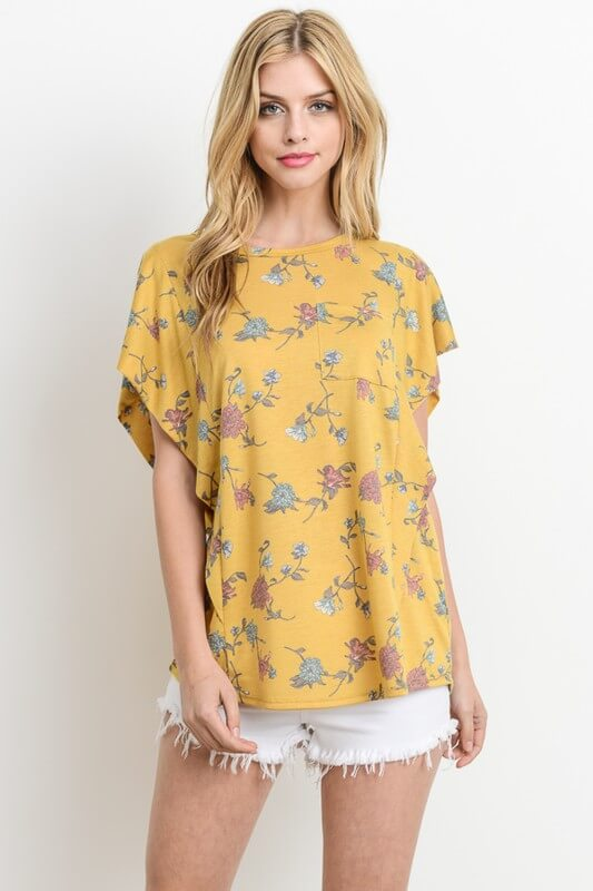 yellow floral shirt boutique