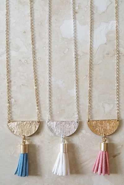 Hartford Half Moon Tassel Necklace