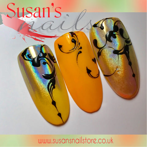 Tips And Tricks When Using Holographic Nail Art Powder Susan S Nails Limited