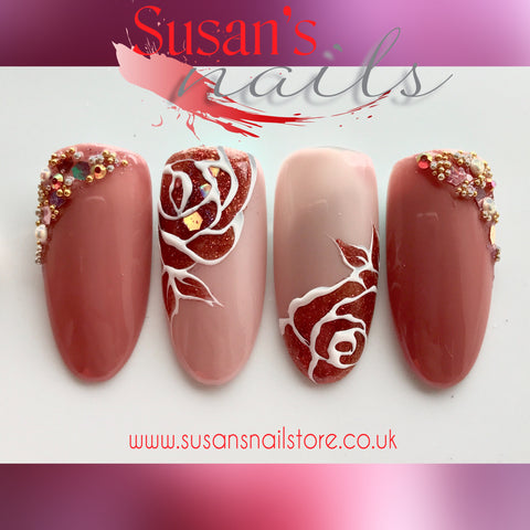 "Online Training Course ""Autumn Roses"" Gel Polish Design"