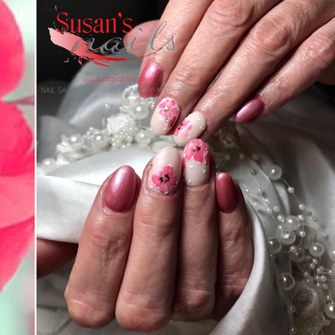 "Online Training Course ""Mother's Day Flowers"" Gel Polish Design"