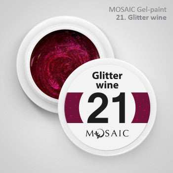 MOSAIC Gel-Paint 21 GLITTER WINE