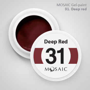 MOSAIC Gel-Paint 31 DEEP RED