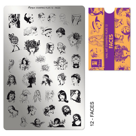 MORYA Stamping Plate 12 FACES