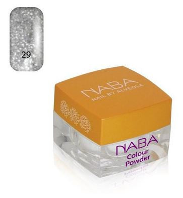 NABA Colour Acrylic Powder 29 SILK SILVER