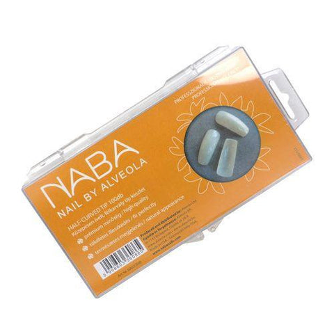 NABA Tip Box 100pcs HALF-CURVED NATURAL