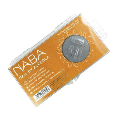 NABA Tip Box 100pcs TRADITIONAL CLEAR