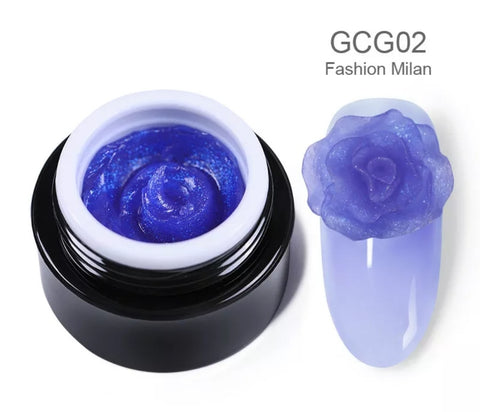 BORN PRETTY Glittery Carving Gel 02 Fashion Milan