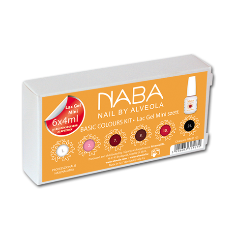 NABA Gel Lac Kit BASIC COLOURS