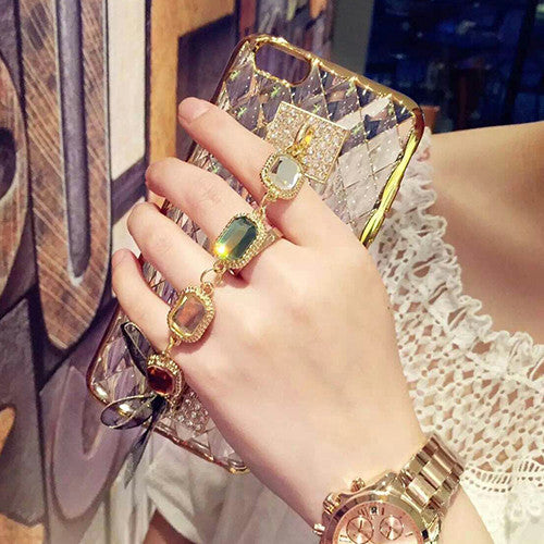 Newest Luxury Diamond Chain Case Cover for iPhone 6 6s plus 7 7 Plus