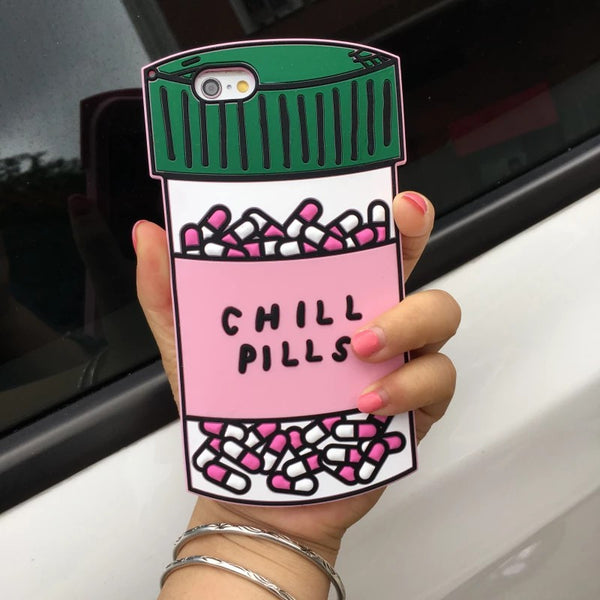 Love Potion or Chill Pills Bottle iPhone Case For 7 7plus 6 6s  6Plus