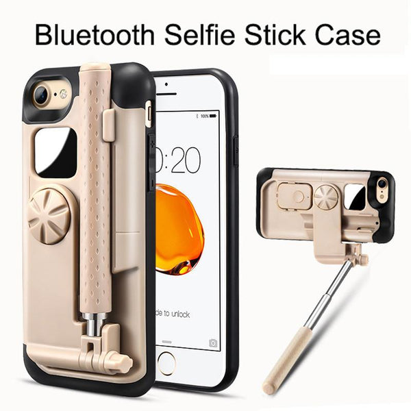 Portable Bluetooth Selfie Stick Case For iPhone 7 7Plus