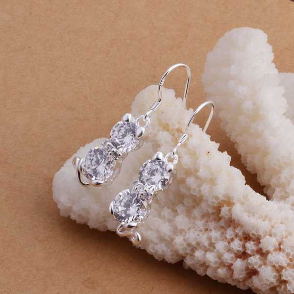 Charming Silver Cat Earrings