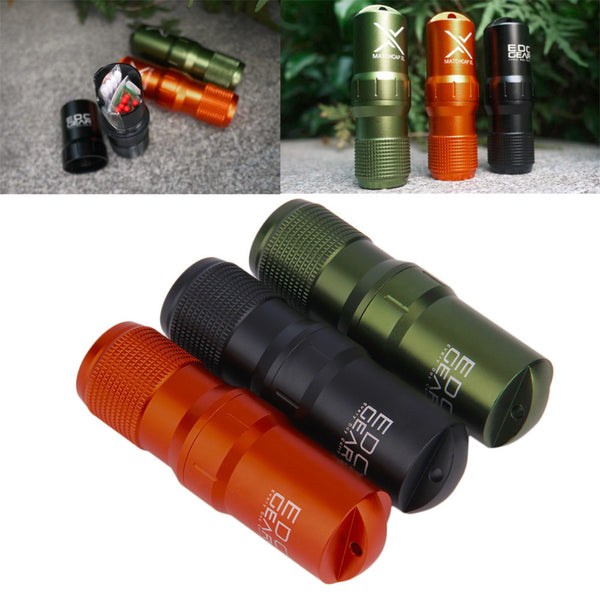 EDC Survival Waterproof Pill/Match Outdoor Container for Camping or Hiking