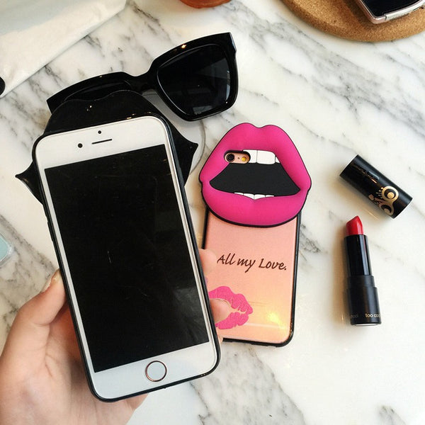 New Luxury Red Lip Lipstick iPhone Case for 6 6s 6plus 6splus