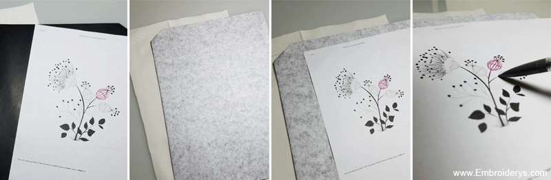 transfer patterns with carbon paper