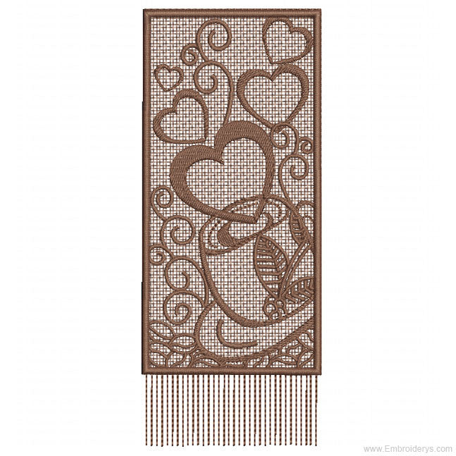Coffee Bookmark Free Standing Lace Machine Embroidery Designs