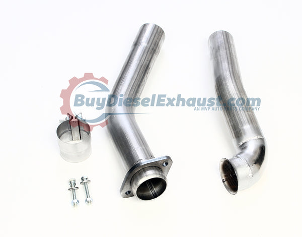"Performance Racing 3"" Turbo Exhaust Downpipe For 94-97.5 Ford F250 F350 Superduty Powerstroke 7.3L Diesel Pickup Truck"