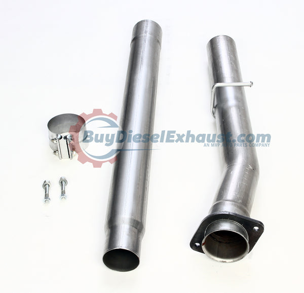 "Performance Racing 4"" CAT Catalytic Converter Delete Test Pipe For 04-07 Dodge Ram 2500 3500 Cummins 5.9L/6.7L Turbo Diesel Pickup Truck"