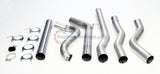 Performance Racing Turbo Back Downpipe Included DPF Delete Exhaust System For 88-93 Dodge Ram W250 W350 Cummins 5.9L Diesel Pickup Truck 4WD Only