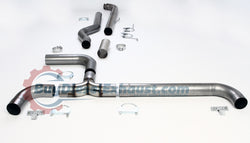 Turbo Back Downpipe Included Dual Smoker Exhaust System For 94-02 Dodge Ram 2500 3500 Cummins 5.9L Turbo Diesel Pickup Truck