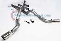 "Performance Racing Turbo Back Downpipe Included DPF Delete Dual Exhaust System With Muffler & Two 5"" Tips For 04.5-07 Dodge Ram 2500 3500 Cummins 5.9L ""600/610"" Diesel Pickup Truck"