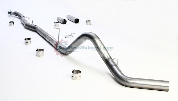 Performance Racing Downpipe Back DPF Delete Exhaust System For 15.5-17 Chevy/GMC Silverado Sierra 2500HD/3500 6.6L V8 Duramax Turbo Diesel Pickup Truck