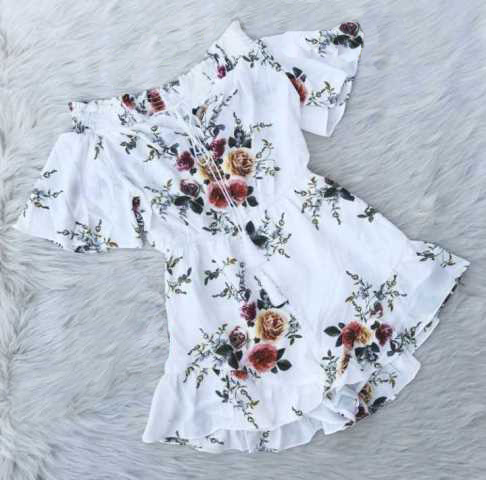Floral Brooklyn White Romper - Blue Mountain Boutique