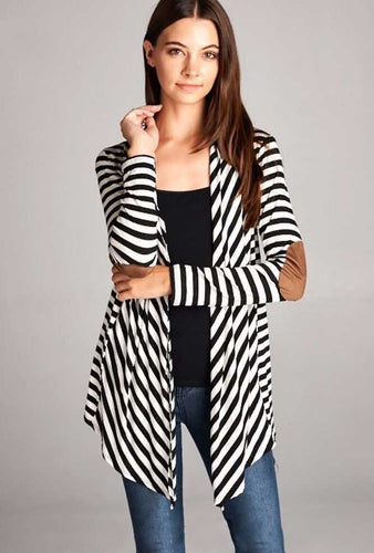 Striped Cardigan - Blue Mountain Boutique