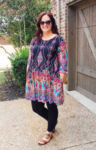 Plus Size Tagged Tunic Blue Mountain Boutique
