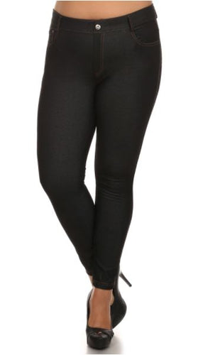Black 5 Pocket Jeggings - Blue Mountain Boutique