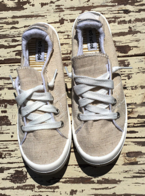 Not Rated Rae Cream Sneakers - Blue Mountain Boutique