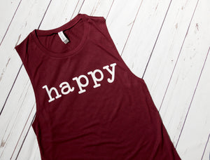 Happy Flowy Scoop Muscle Tank