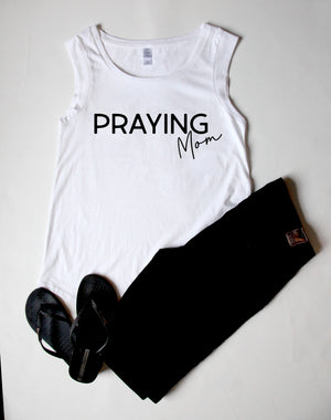 Praying Mom Cap Sleeve Tee