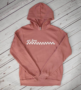 Set Free checkered hoodie YOUTH