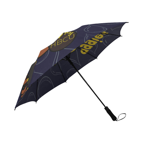 NC A&T Umbrella-Blue Semi-Automatic Foldable