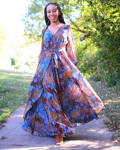 Fall Flow Maxi Dress - Deevasden.com